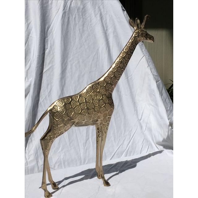 Brass Giraffe - Large - Image 4 of 5