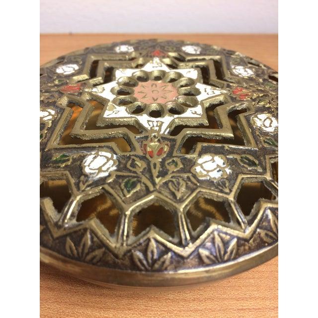 Pierced Brass Lidded Trinket Box For Sale - Image 5 of 8