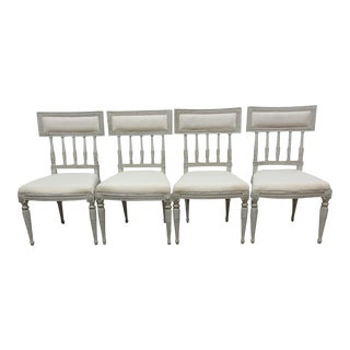 Swedish Classic Gustavian Side Chairs - Set of 4 For Sale