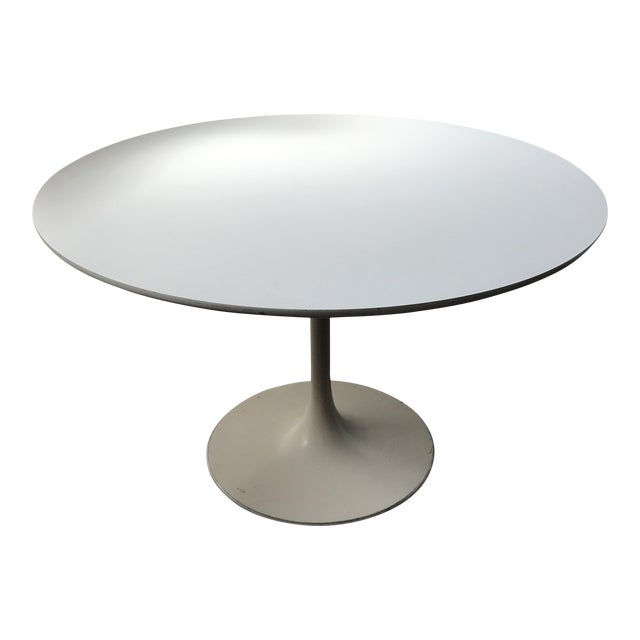 Burke 1960s White Tulip Dining Table - Image 1 of 12