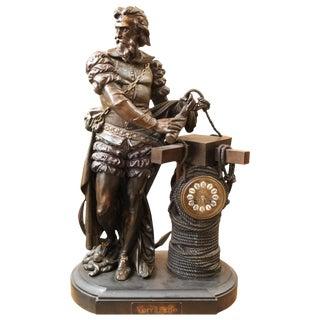 Verrazzano Sculpture Clock, 19th Century For Sale