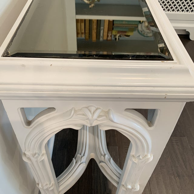 Glass Mid Century Regency Serge Roche Console Table For Sale - Image 7 of 12