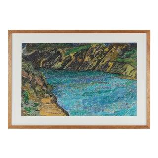 Anne Granick Coastal Landscape Painting, Circa 1960s Circa 1960s For Sale