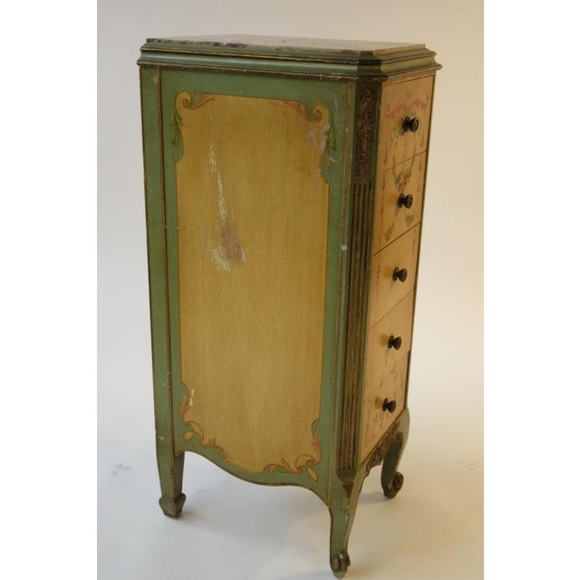 Neoclassical Pair of Tall 1920s Marble-Top Adams Style Side Tables For Sale - Image 3 of 13