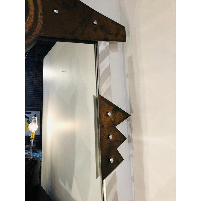 Custom Made Modern metal wall mirror.