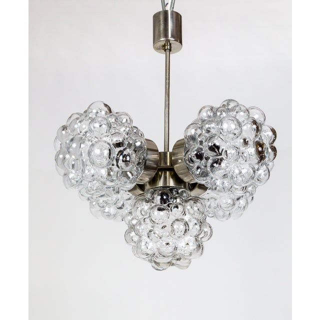 Bubble Glass Cluster Chandelier by Helena Tynell For Sale - Image 9 of 9