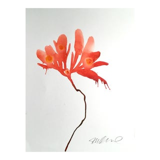 Original Botanical of the Orient Watercolor Painting For Sale