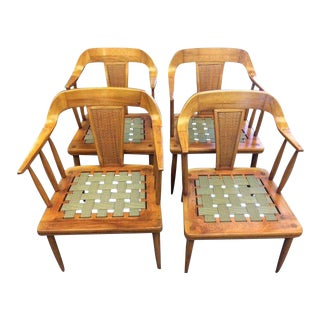 Mid Century Vintage Modern Tomlinson Dining Chairs- Set of 4 For Sale
