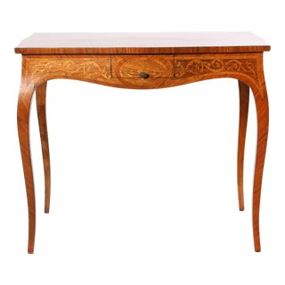 Mid-19th Century Dutch Marquetry Center Table For Sale