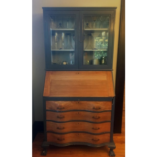 19th Century Chippendale Slant Front Mahogany Maddox Secretary Desk For Sale - Image 11 of 11