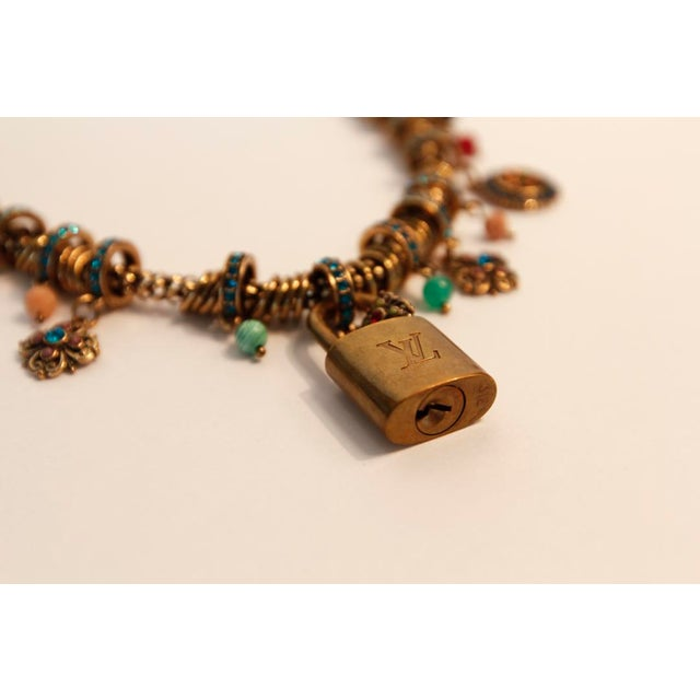 French Louis Vuitton Charm Necklace For Sale - Image 3 of 5
