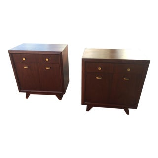 Mid - Century Modern Mahogany Night Stands /End Tables - a Pair