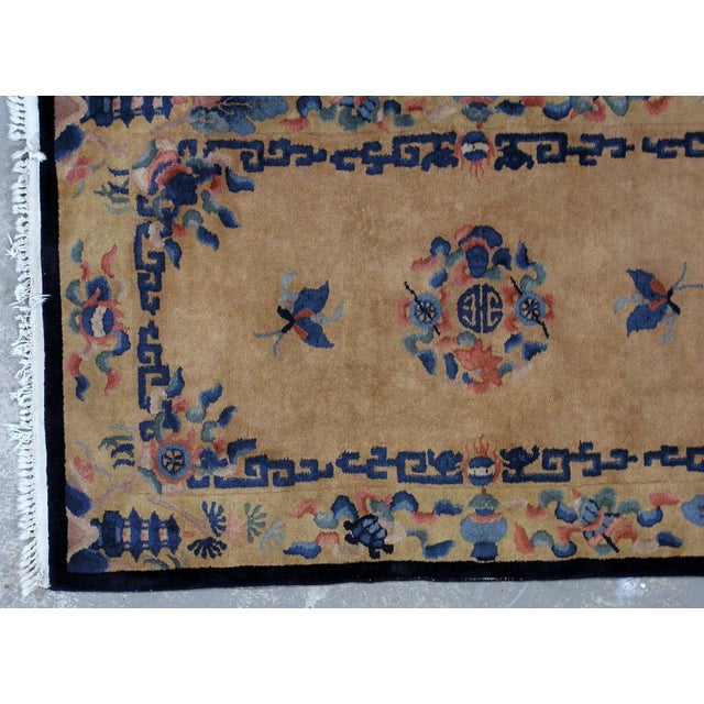 1930s Art Deco Chinese Handmade Rug - 4' X 6' For Sale - Image 4 of 7