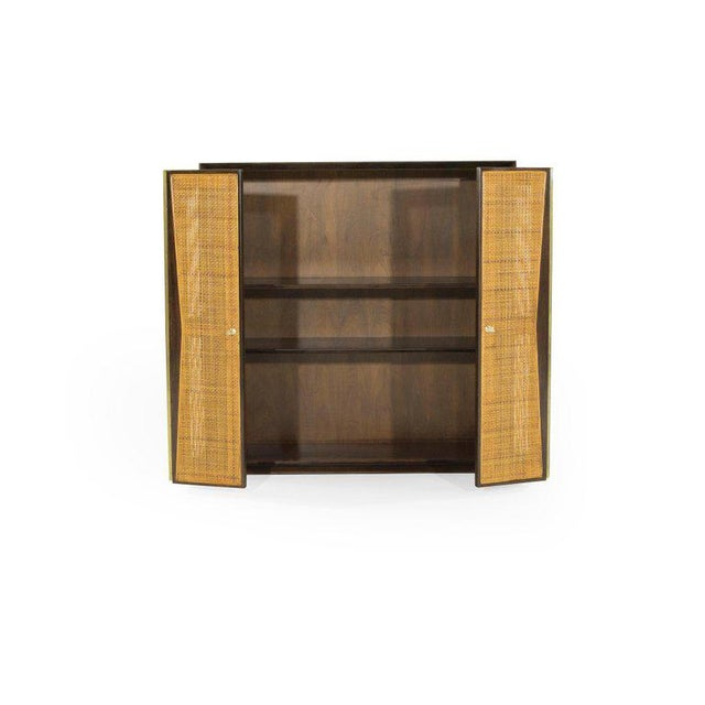 Brown 1950s Floating Liquor Cabinet by Vladimir Kagan for Grosfeld House For Sale - Image 8 of 13