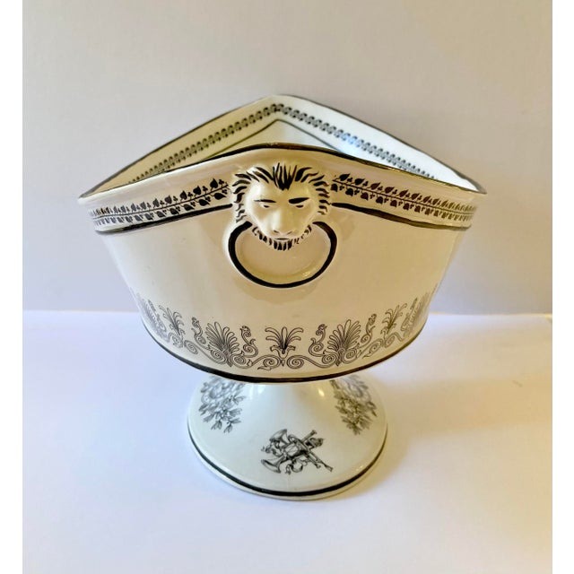 Mid 20th Century Mottahedeh Italian Pedestal Bowl For Sale - Image 5 of 12