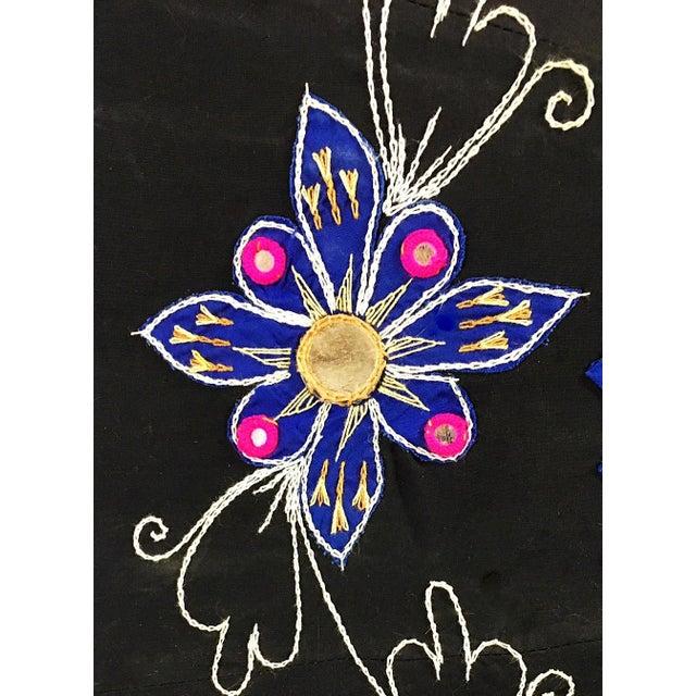 Sun Umbrella Garden Umbrella, Embroidered Cotton - Image 7 of 11