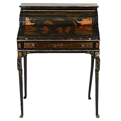 Antique Chinoiserie Queen Anne Style Desk For Sale - Antique Chinoiserie Queen Anne Style Desk Chairish