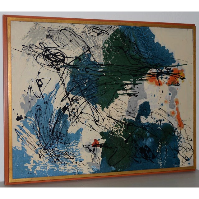 Abstract Expressionist Oil Painting by Van Winkle C.1950s For Sale In San Francisco - Image 6 of 12