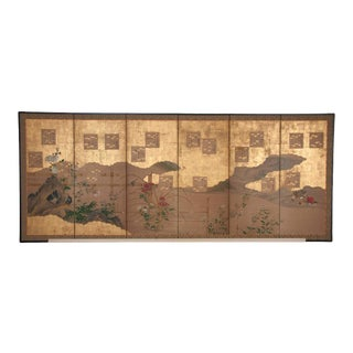 Japanese Six-Panel Screen For Sale
