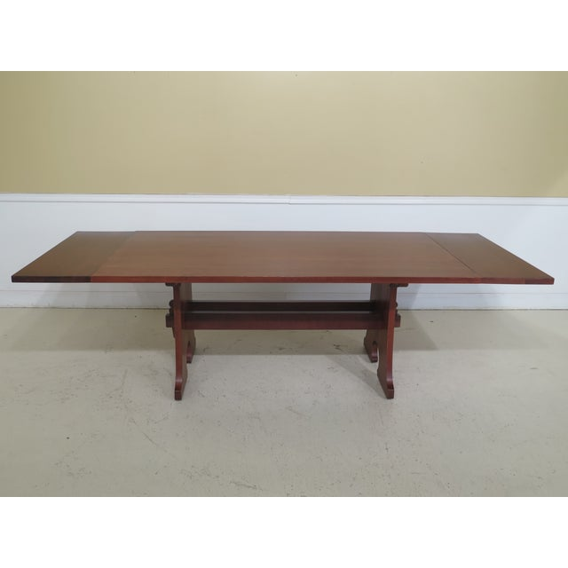 Brown 1990s Vintage Stickley Cherry Mission Style Cherry Dining Room Table For Sale - Image 8 of 12