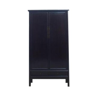 Solid Elm Chinese Armoire