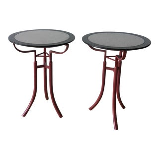 1980s Memphis Style Side Tables - a Pair
