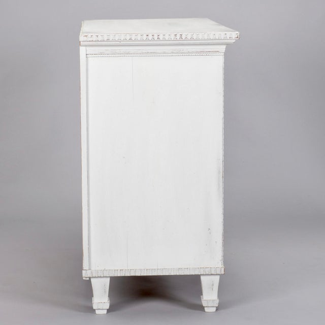 Swedish Two-Door Cabinet with Fluted Diamond Front For Sale - Image 4 of 8