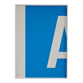"""A"" M1 Motorway Sign Poster in Custom Frame For Sale"