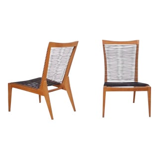 Pair of 1950 Louis Sognot Lounge Chairs For Sale