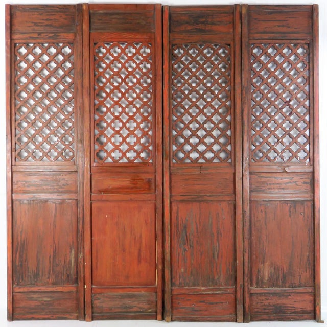 Early 20th Century Antique Chinese Carved Courtyard Doors For Sale - Image 12 of 13