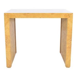 1970s Milo Baughman Burl Wood Side Table For Sale