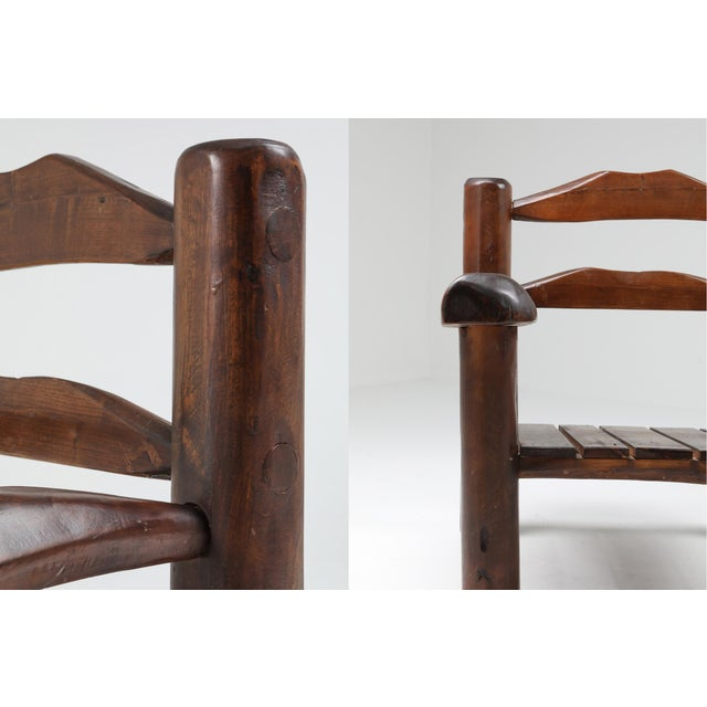 1950s Rustic Wooden Wabi Sabi Lounge Chairs For Sale - Image 9 of 11