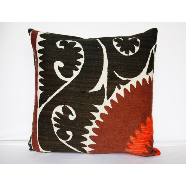 Arts & Crafts Handwoven Suzani Pillow Cover For Sale - Image 3 of 11