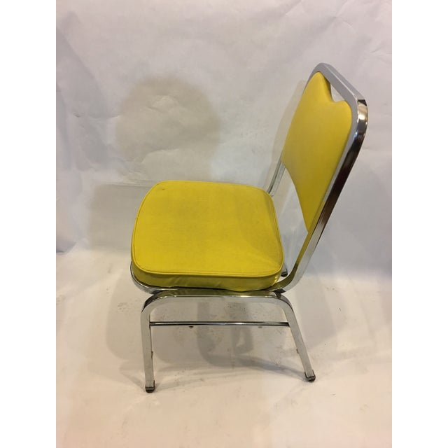 Mid-Century Chrome & Vinyl Chairs- Set of 4 - Image 5 of 8