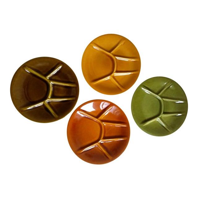 Boch Freres Keralux Divided Plates - Set of 4 For Sale