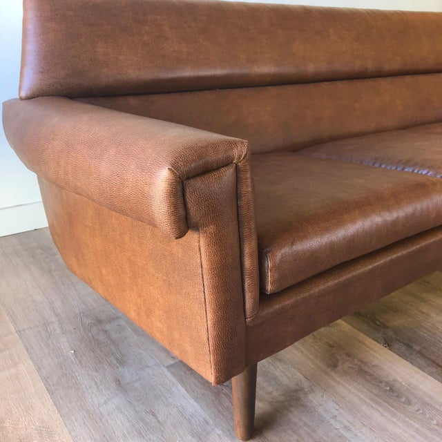 Newly-Uphlolstered Danish Mid-Century Sofa For Sale - Image 4 of 7