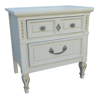 French Painted Nightstand Side End Table by Dixie Furniture For Sale