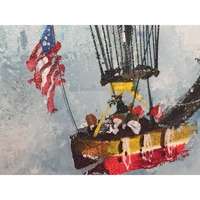 1978 Across the Sea to Glory, Oil on Canvas Painting For Sale In Detroit - Image 6 of 8