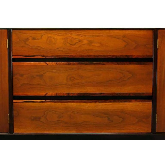 Rosewood and Walnut Parquetry Front Credenza - Image 6 of 8