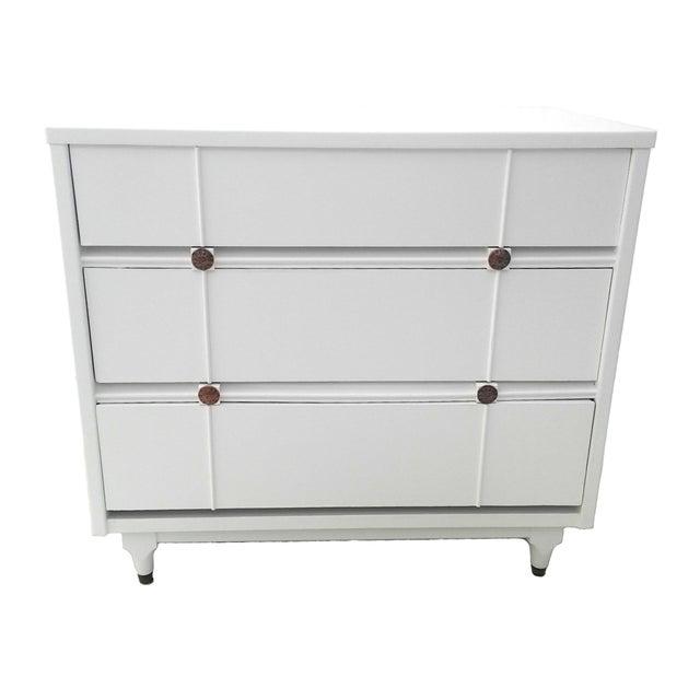 Kroehler Mid-Century White Lacquer Dresser - Image 1 of 10