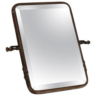 Mid-Century Modern Brass Plated Vanity Mirror For Sale