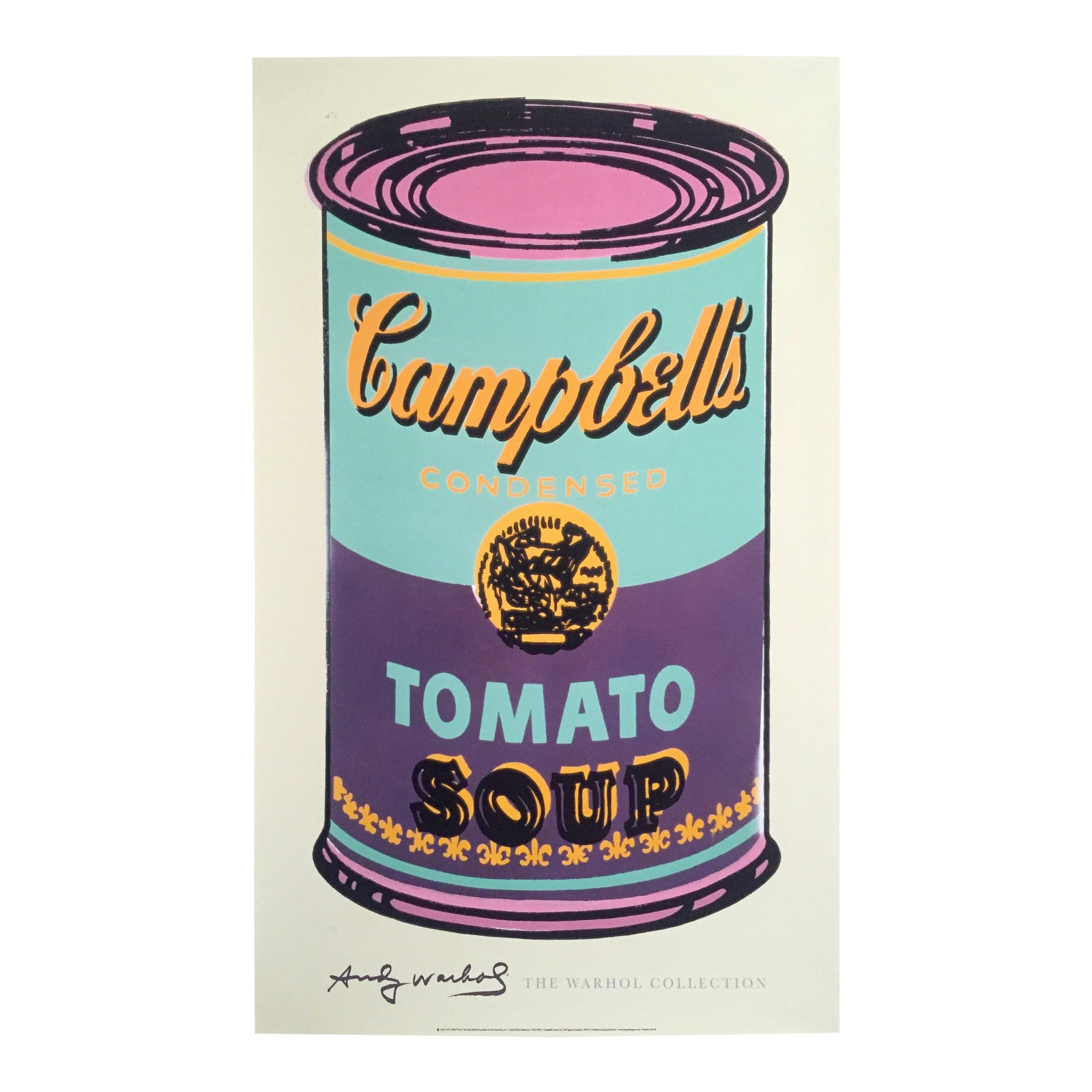Andy Warhol Foundation Lithograph Print Pop Art Poster