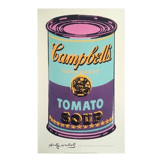 "Andy Warhol Foundation Lithograph Print Pop Art Poster ""Campbell's Soup Can"" 1965"