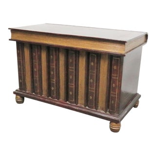 Maitland Smith Leather Book Form Chest/Coffee Table For Sale