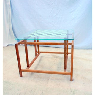 1960s Mid-Century Modern Henning Norgaard for Komfort Teak and Glass Side Chess Game Table Preview