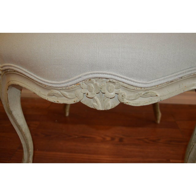 Louis XV Louis XV Style Painted Armchairs - A Pair For Sale - Image 3 of 8