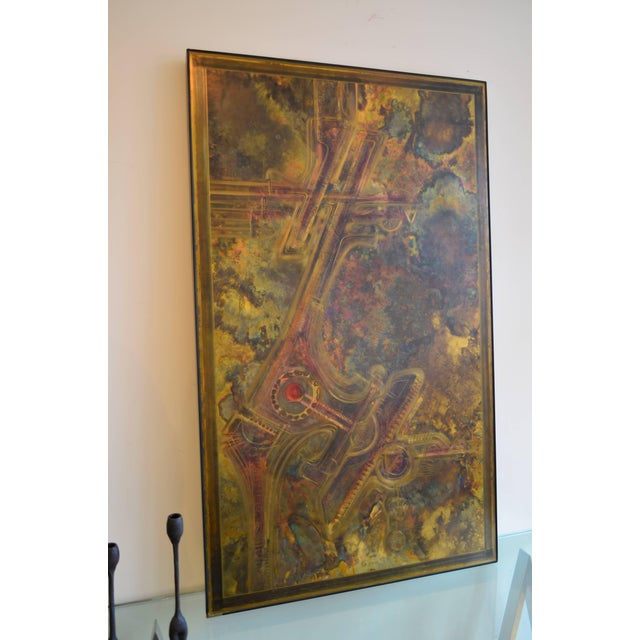 Bernhard Rohne Brass Acid Etched Wall Art For Sale - Image 9 of 11