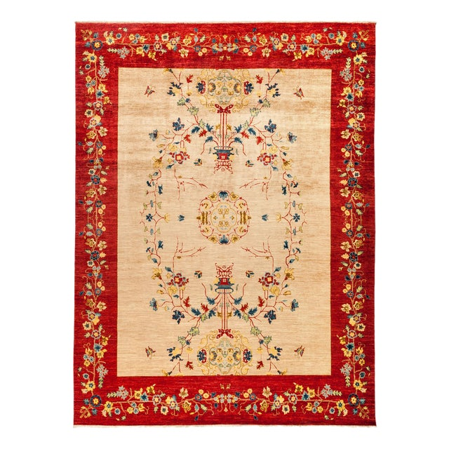 "New Hand Knotted Area Rug - 8'10"" x 11'10"" - Image 1 of 3"