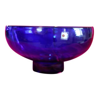 Joel Phillips Myers 1964 Blenko Glass Studio Bowl For Sale