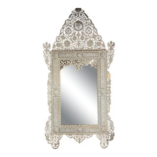 Large Mother of Pearl Mirror For Sale